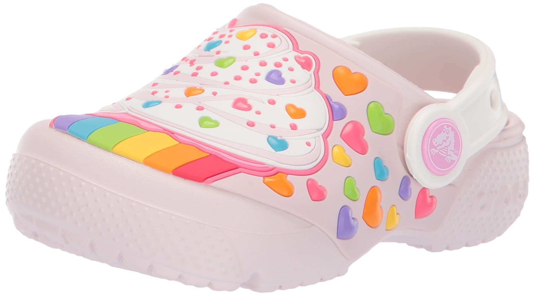 Crocs Kids' Fun Lab Cupcake Clog, Barely Pink, 13 M US Little Kid by Crocs