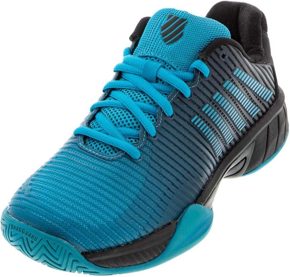 Size 6 Algiers Blue//Black K-Swiss Junior Hypercourt Express 2 Tennis Shoe