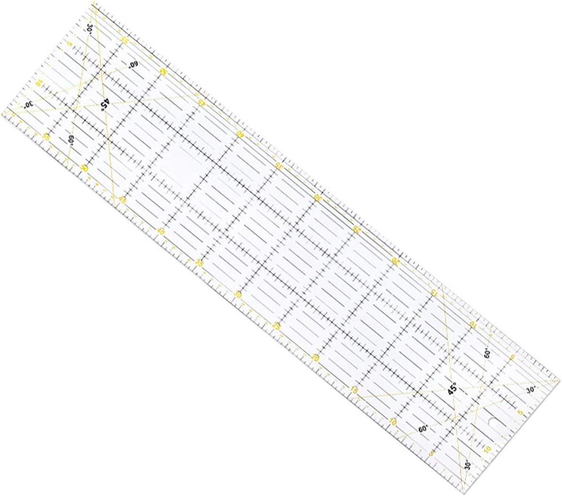 Kongqiabona-UK Patchwork-Lineal zum Schneiden spezieller Lineal 60 cm x 15 cm Dicke 3 mm Handwerkzeug zwei Farben gro/ß rechteckiges Lineal