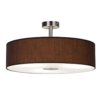 Ledar Lemgo - Lámpara de techo, color marrón, incluye 3 x ...