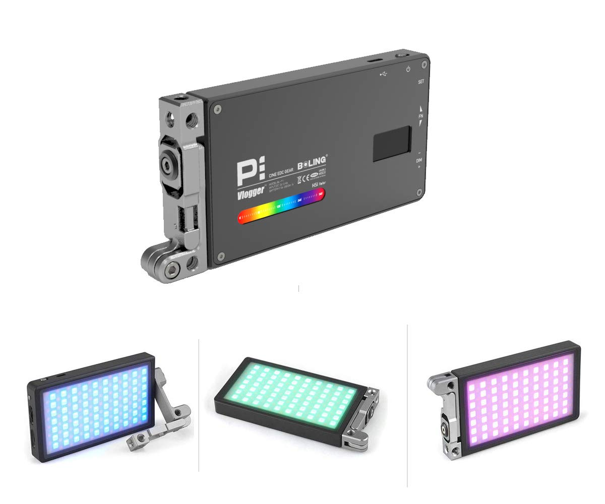 Boling BL-P1 12W RGB Full Color Dimmable 2500-8500K On-Camera Led Video Light with OLED Screen, 360° Support System by Vitopal (Image #1)