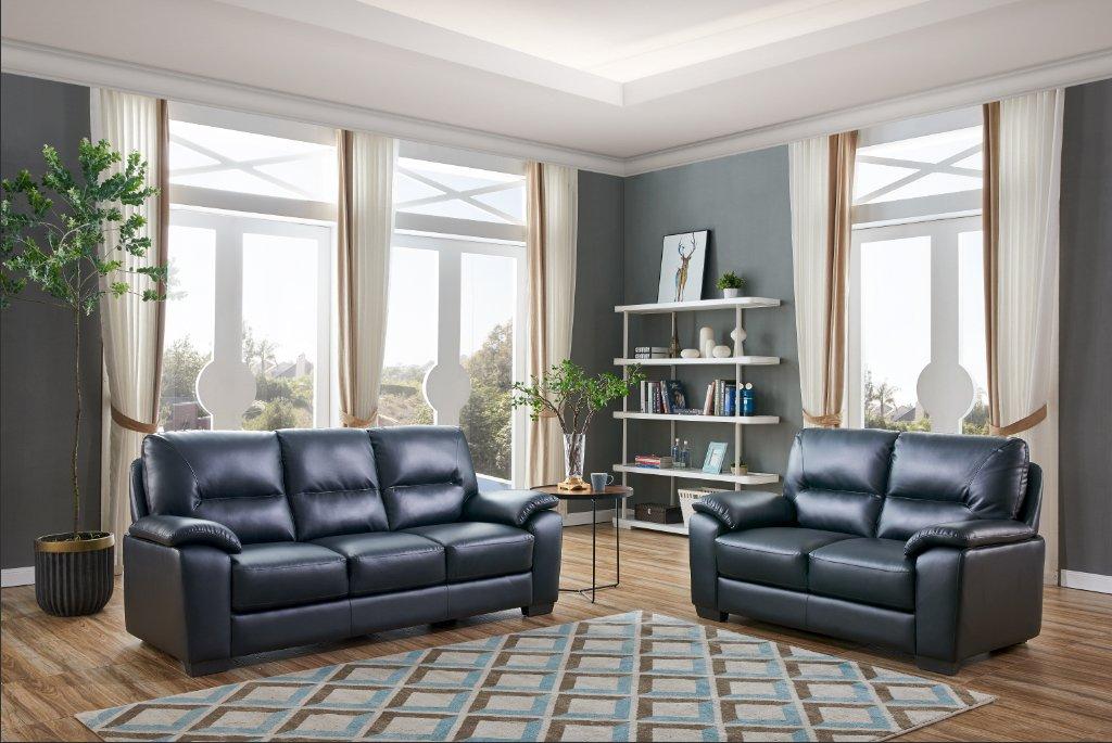 Dalmore - Juego de sofá y cama de alta calidad (piel, 3 + 2 ...