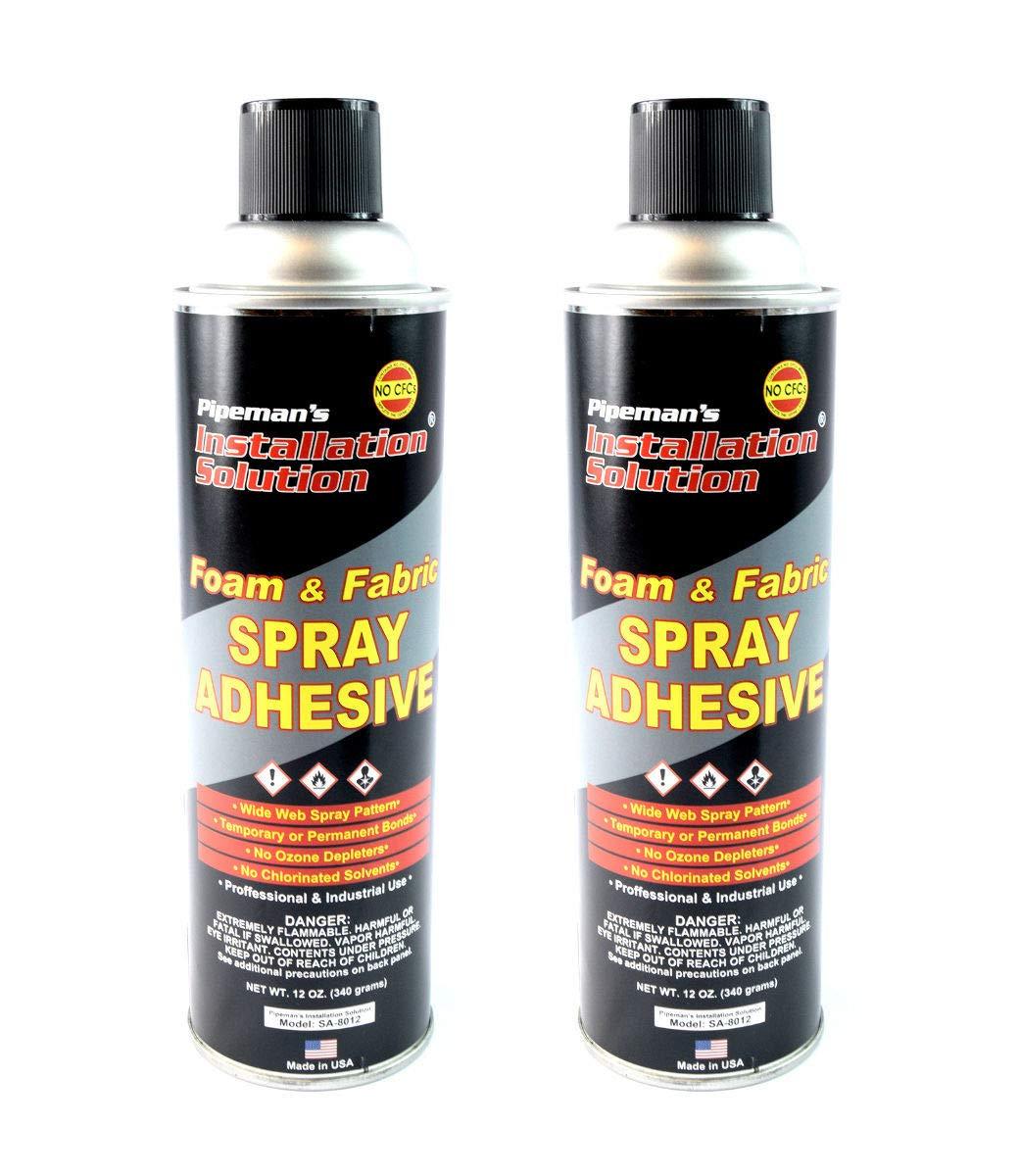 2 Pack Professional Foam Fabric Upholstery Leather Aerosal Adhesive Glue Spray by Nippon America