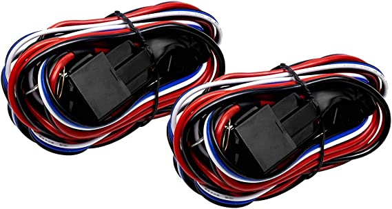 Eyourlife 12V 40A Off Road LED LIGHT Bar On Off Power Switch Relay Wiring Harness (2pcs Lead-Wired Control)
