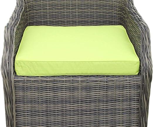 Coussin pour mobilier de jardin - Coussin d\'assise pour grand fauteuil de  jardin, coloris citron vert