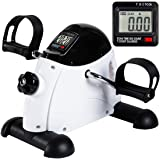 iHomey Pedal Exerciser Portable Mini Exercise Bike Trainer for Arm and Leg with LCD Digital Monitor