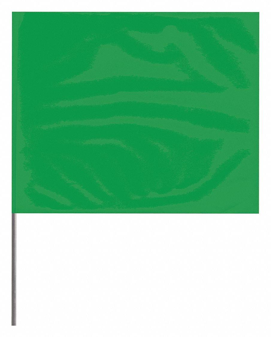 Amazon com: Marking Flag, Green, Blank, PVC, PK100