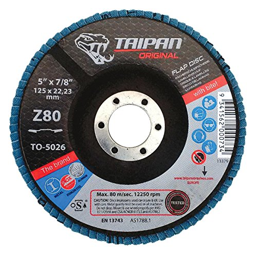 60 Grit Taipan Abrasives TO-5044  Original Zirconia Flap Disc 8500 RPM 7 OD 7//8 Arbor 7//8 Arbor 7 OD Depressed