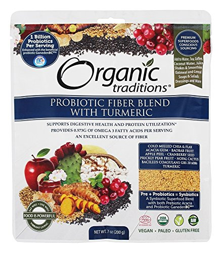 Organic Traditions Smooth Movement Probiotic Fiber Blend with Turmeric 7 oz 200 g ()