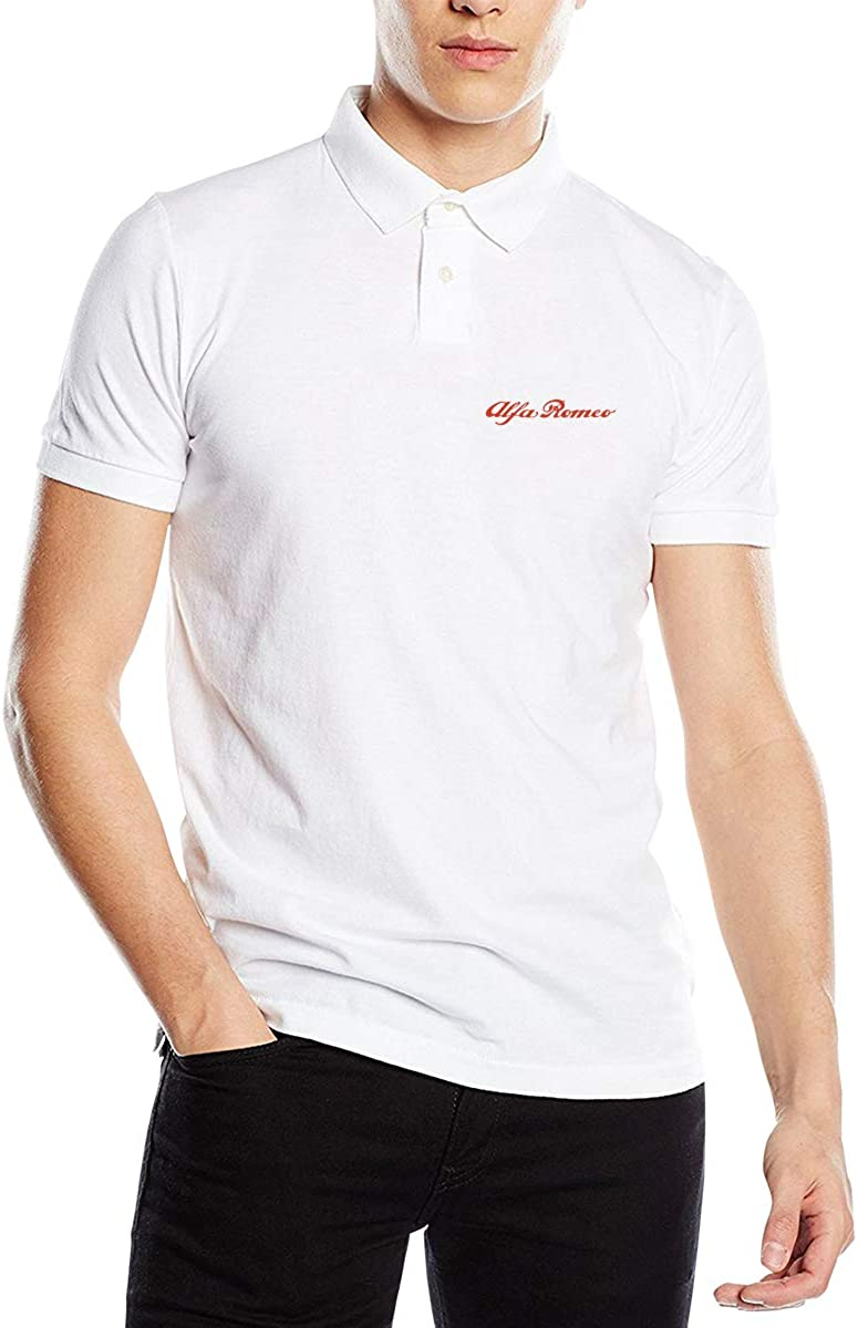 Alfa Romeo Men's Perfect Slim Fit Short Sleeve Polo Shirt Tee
