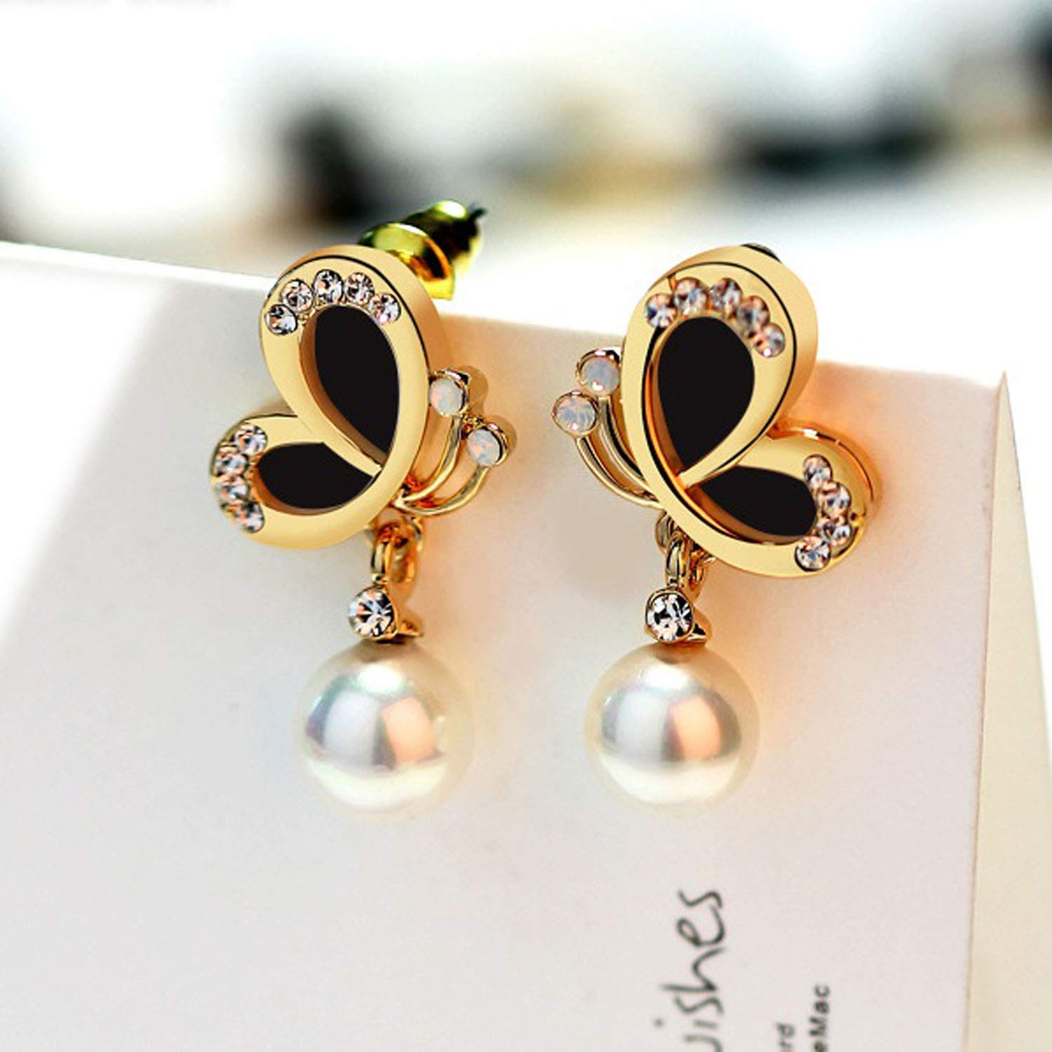 d201d0770 Buy Sukkhi Trendy Black Pearl Gold Plated Earring for Women Online at Low  Prices in India | Amazon Jewellery Store - Amazon.in