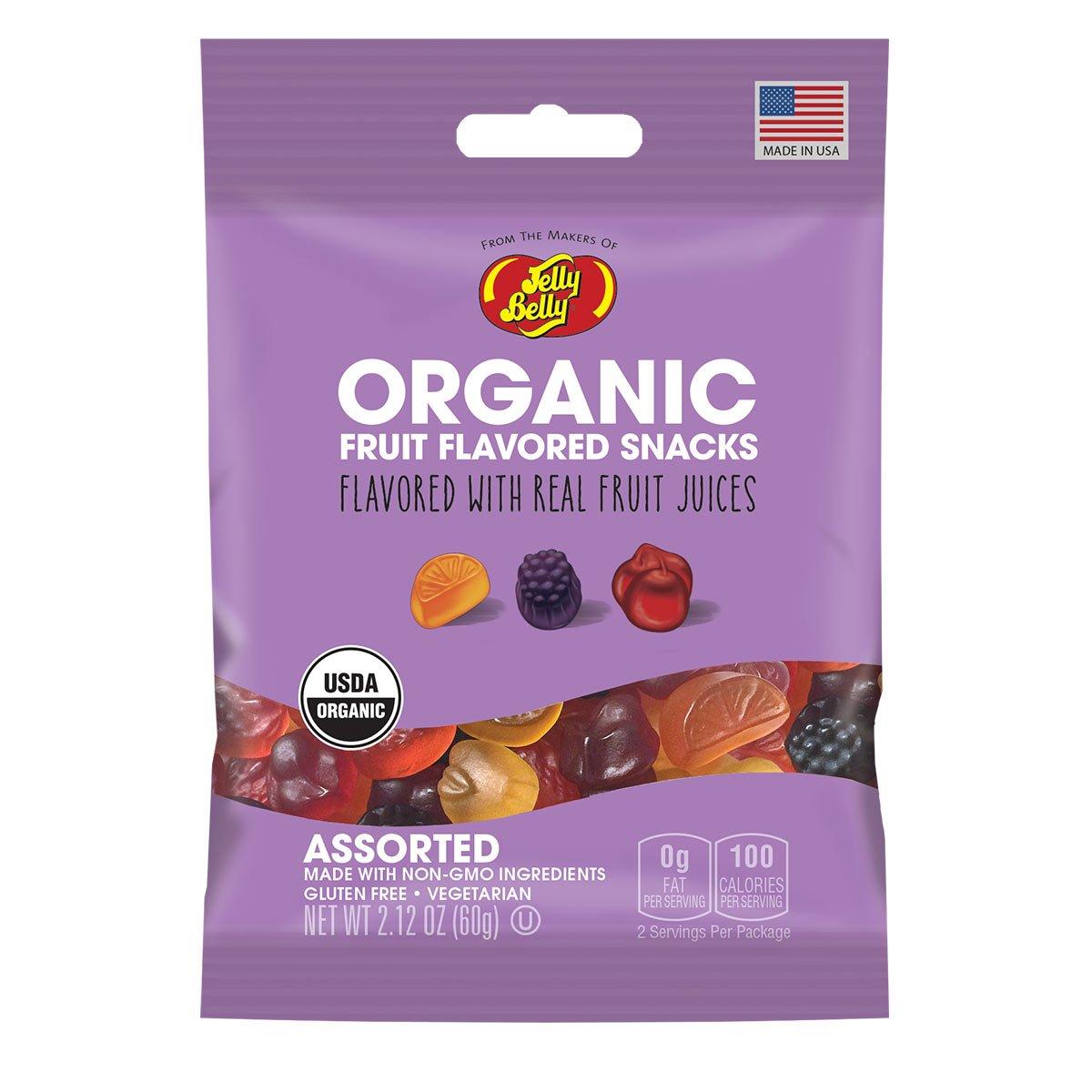 Jelly Belly Organic Fruit Snacks, 2.12-oz, 12 Pack