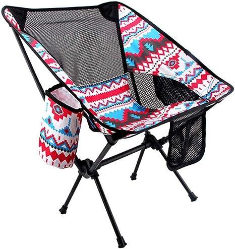 SHJMANFC Portátil Silla Plegable Camping, Aluminio Ultraligero ...