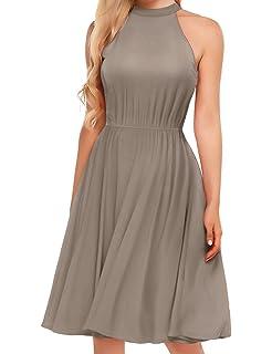 a9b262d8fae Amazon.com  Women Summer Short Sleeve Split Maxi Dress Belted Beach ...