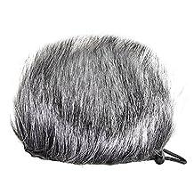 Portable Furry Recorder Windscreen Muff Artificial Fur Windshield Wind Muff for Zoom H1 H2N H4N Q3 Q3HD Sony D50