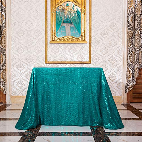 Eternal Beauty Sequin Tablecloth, Sequin Table Linen, 48