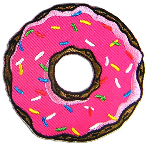Strawberry Doughnut Donut Embroidered Patch product image
