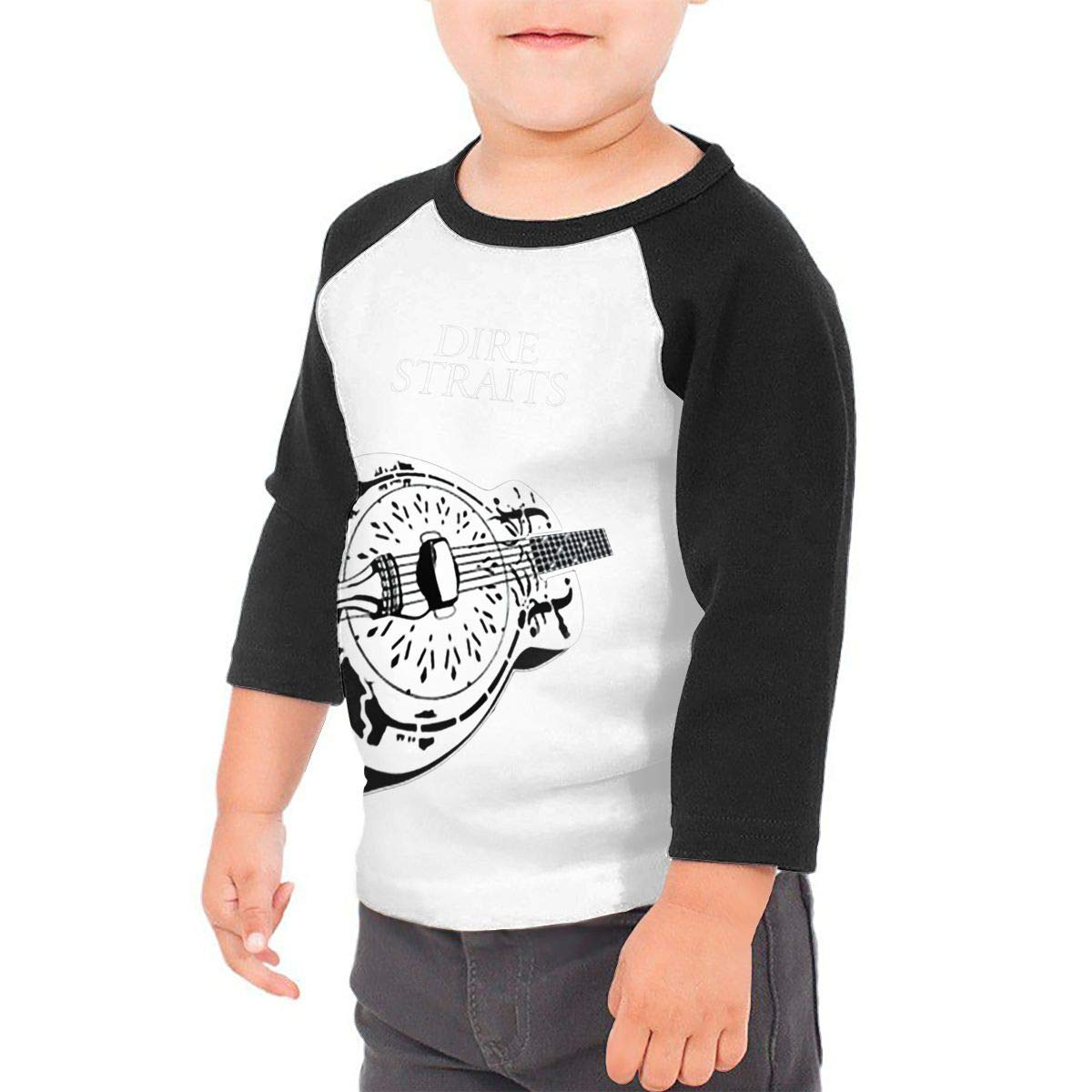 yimo Guitar Unisex Toddler Baseball Jersey Contrast 3//4 Sleeves Tee