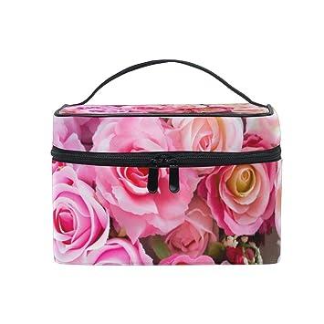 Amazon.com: Organizador de maquillaje romántico rosa para ...
