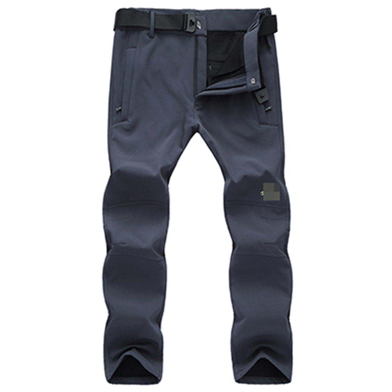 Dapengzhu New Winter Men's Softshell Thicken Velvet Warm Pants Trousers Male Waterproof Windproof Plus Size M-8XL