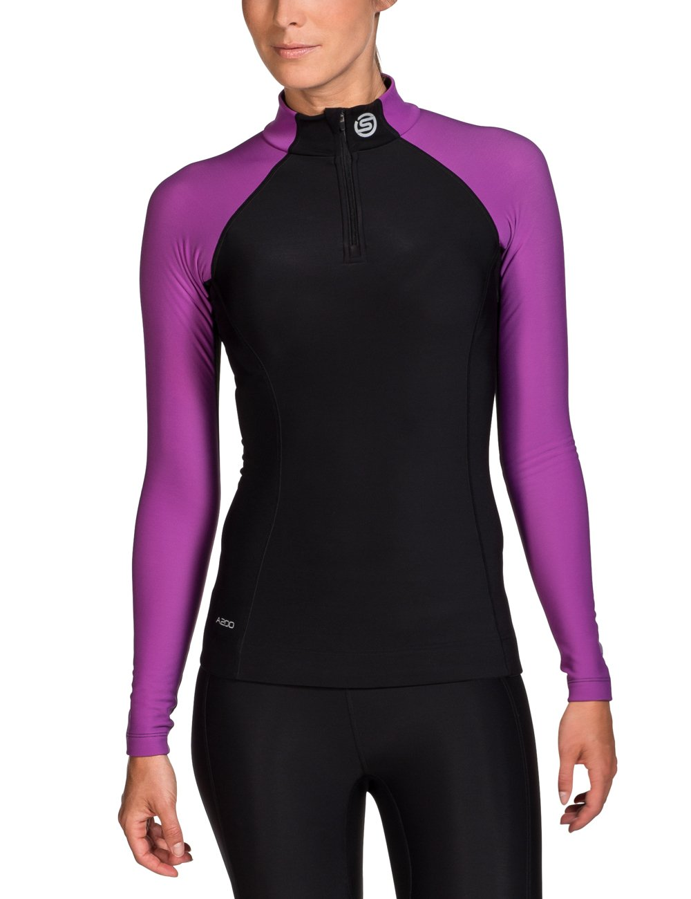 Skins Damen A200 Thermal Womens Long Sleeve Mck Neck W Zip B61033025F