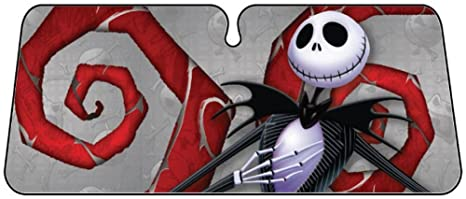Image Unavailable. Image not available for. Color  Nightmare Before  Christmas Car Sunshade ... 010d2f8f269