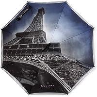 Ombrello inverso automatico High-end Collezione «NOUSHKA Paris», modello «PARIS», 5 anni di Garanzia, Double-Canvas, Balena rinforzata