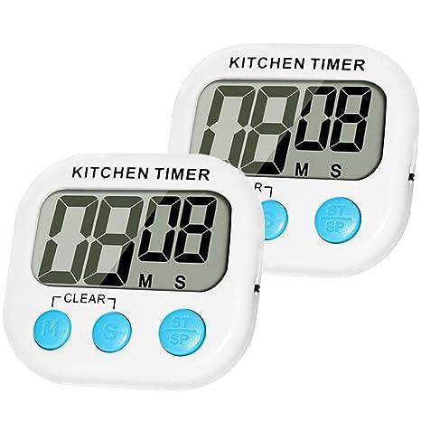 Reloj digital para la cocina, de MOMONY, magnético, con pantalla LCD, con