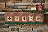 """Christmas Sampler Mantle Scarf Features a 2-1/2"""" rod pocket to hang as a valance.Priced and sold individually. Designed and manufactured by Park Designs."""