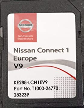 Tarjeta SD GPS Europe 2019 V9 - Nissan Connect 1 - Database Q3.2017
