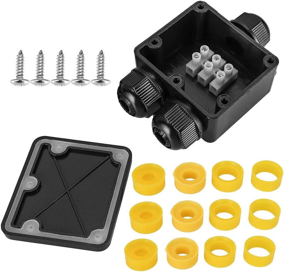 Anna822 Junction Box Outdoor Distributor Case Wire Tool Electrical Durable Accessories Dustproof 3 Way IP68 Waterproof External Cable Connector
