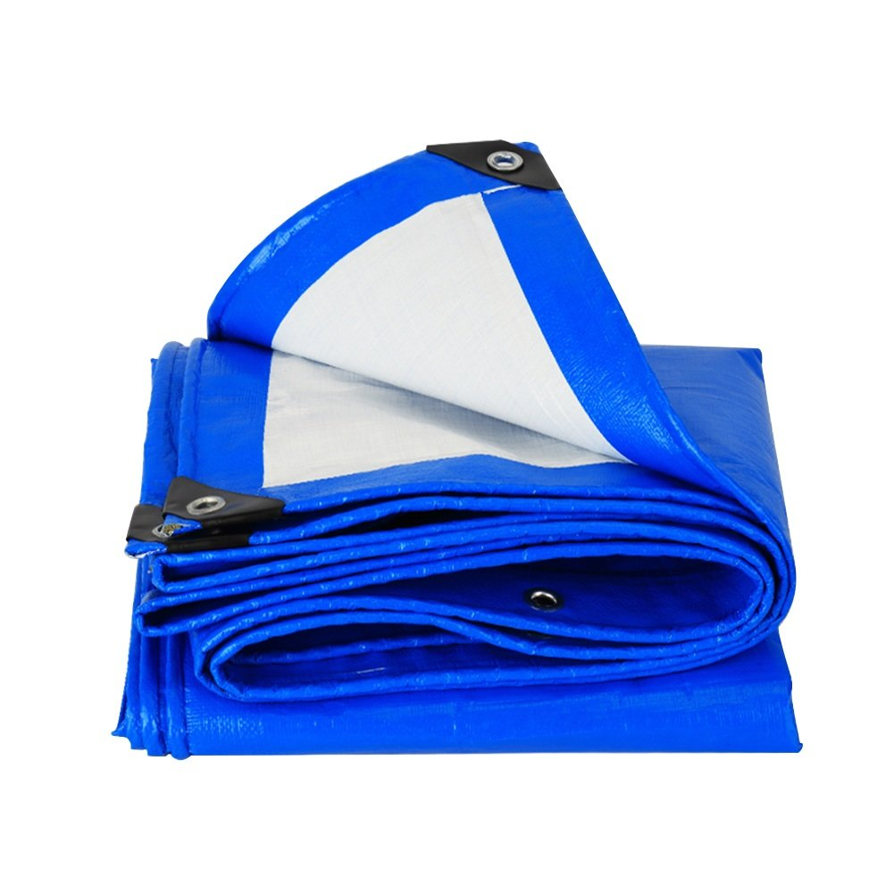 QIANGDA オーニング サンシェード青いプラスチックシート 日焼け止め レインカバー 防水 交通/建設 -170g/m 2、 厚さ0.29mm、 13サイズあり (サイズ さいず : 6 x 10m) B07BRZV4JG 6 x 10m  6 x 10m