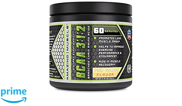 Amazing Muscle BCAA 3:1:2 - Promotes Lean Muscle Mass -Aids ...
