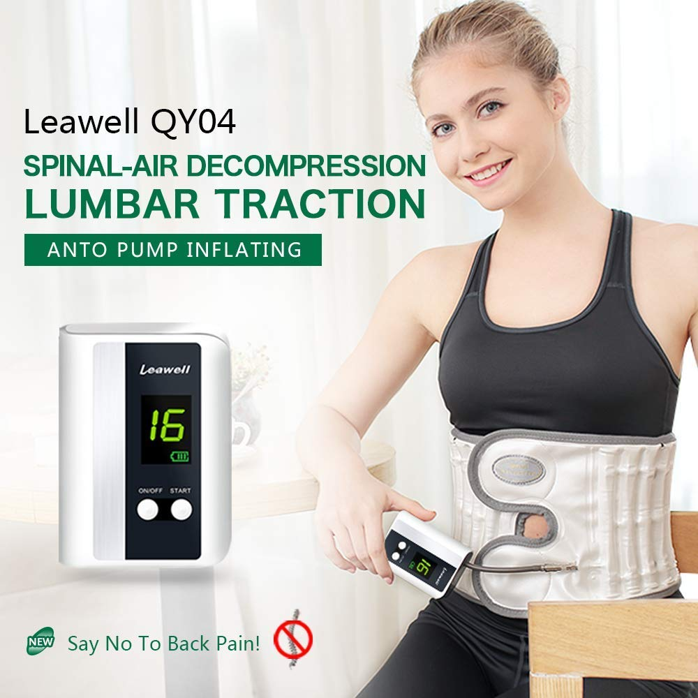 Leawell Electric Pump Back Brace Back Relief Belt|Health Decompression Back Belt for Lower Back Pain Posture Correct QY04 Size L(Waist 36''~42'') by Leawell (Image #1)