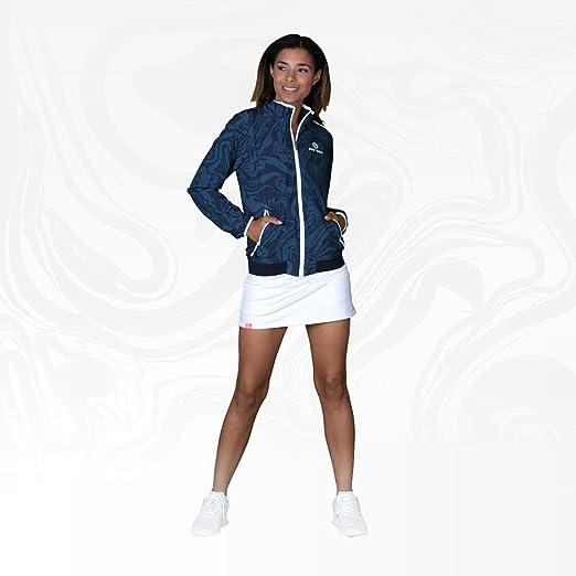 Gr/ö/ße:XL Liza Tech Jacket FA18 Anthracite//darkblue BIDI BADU Damen Trainings Jacke