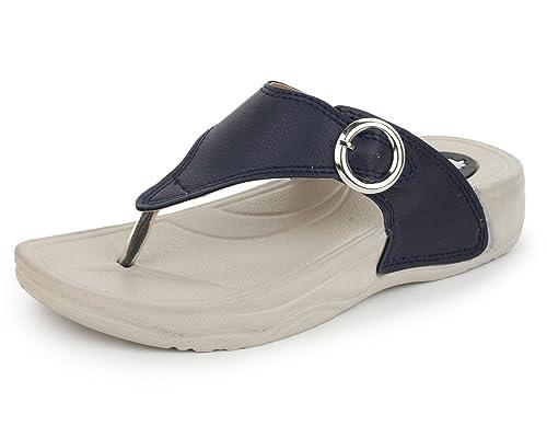 cb1724abbaa3ce TRASE QURE Navy Blue Women s Dailywear Footwear Slipper (Ultra Light Eva  Sole) -