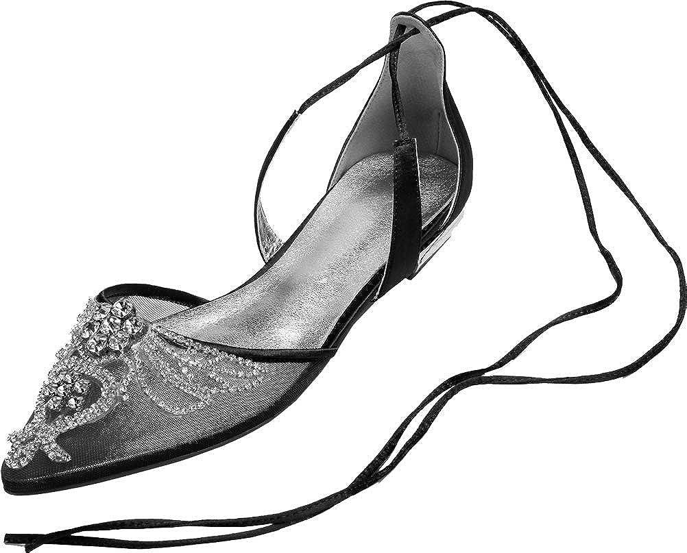 Find Nice con Brillantes Diamantes de imitaci/ón Vestido Plano para Dama de Honor