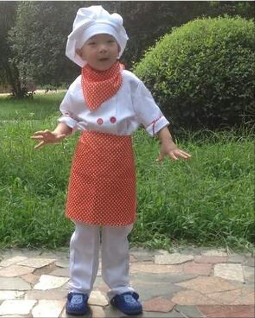 FHFF Gorro de cocinero Juego De Delantal De Chef Para Niños ...