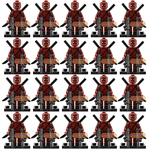 Dark Knight Costume Replica Uk (gonggamtop 20 Pcs Lots DeadPool Dark Red suit Mini Figures Building blocks Bricks toys)