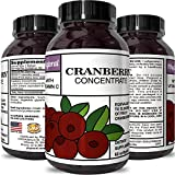 Cranberry Concentrate Pills – Urinary Tract Health Support & Kidney Cleanse with Proanthocyanidins – Pure Antioxidant Blend With Immune Support Vitamin C – Polyphenols – Supplement For Women And Men Review