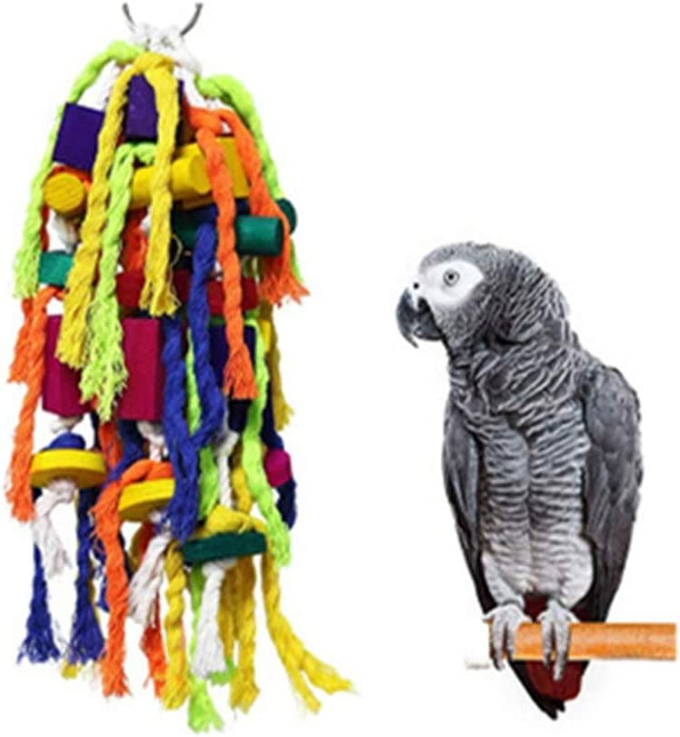 Honglimeiwujindian Oiseau Perroquet Jouets Cages Craft Jouet Inseparables Relief Pet Quaker Oiseau Perroquet Perruche Parrotlet Toy Installation Facile Couleur Multi Colored Size 15x12x42cm Amazon Fr Animalerie