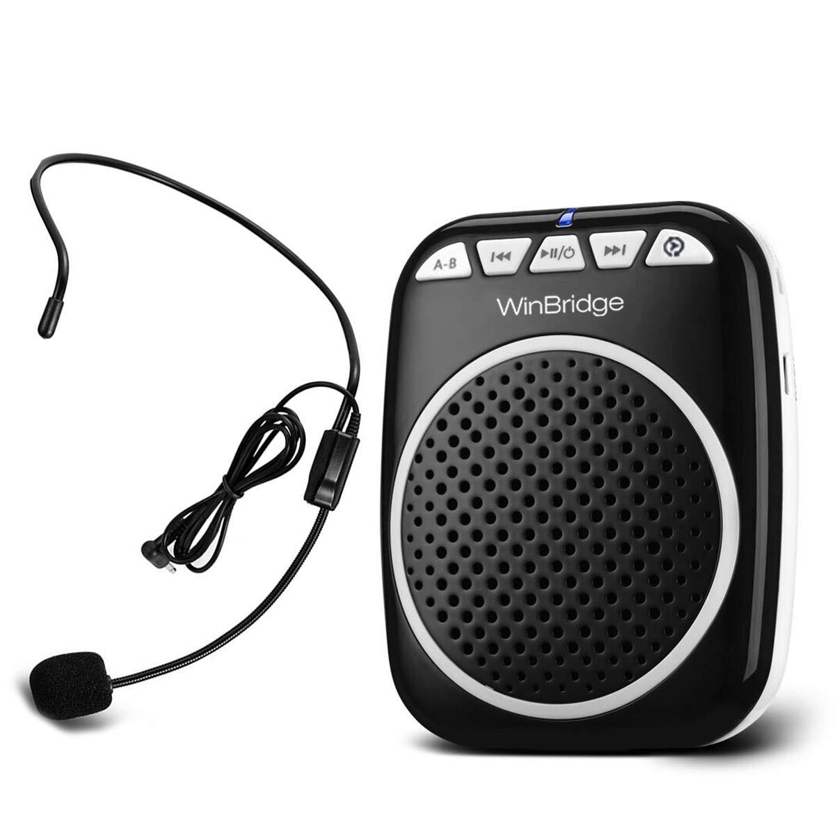 W WINBRIDGE Voice Amplifier Portable Microphone and Speaker Loudspeaker Personal Microphone Speech Amplifier Clip On for Teacher, Elderly,Coaches, Training, Presentation, Tour Guide by W WINBRIDGE
