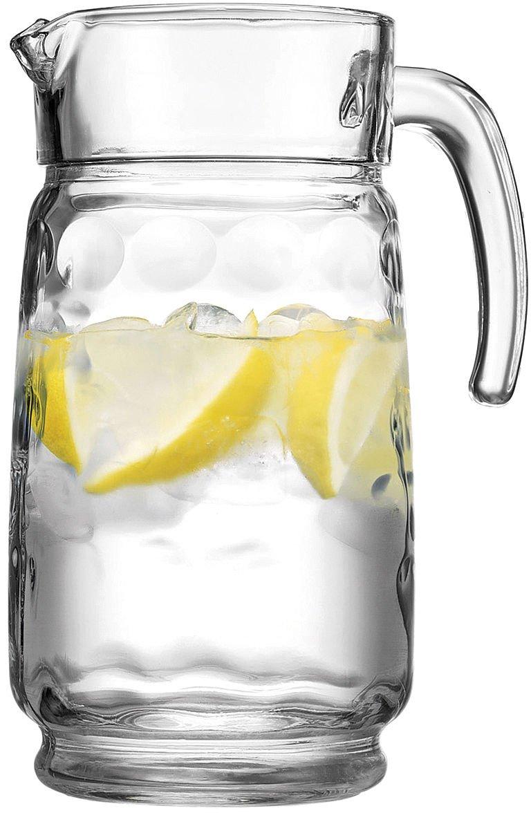 HOME ESSENTIALS ECLIPSE 66 OZ GLASS WATER PITCHER