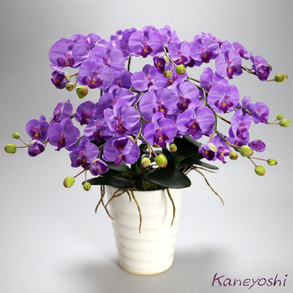 胡蝶蘭 造花 ギフト 小輪 5本立 紫 【ギフトラッピンクギフトカード対応】 B01N16QWBL  紫