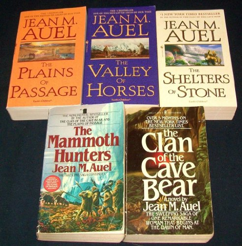 Jean Auel Set (The Mammoth Hunters / the Valley of Horses / the Shelters of Stone / Clan of the Cave Bear / Plains of Passage)