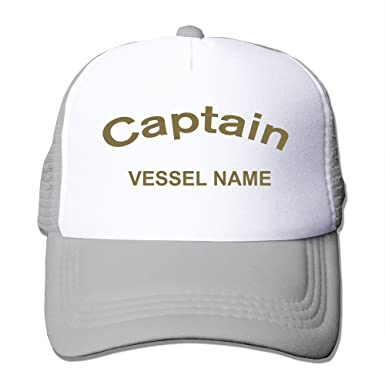 YSC-Dier Handson Personalized Flat Billed Captain Vessel Name Sporting Cap  Hats Black Ash  Amazon.co.uk  Clothing d66df3796585