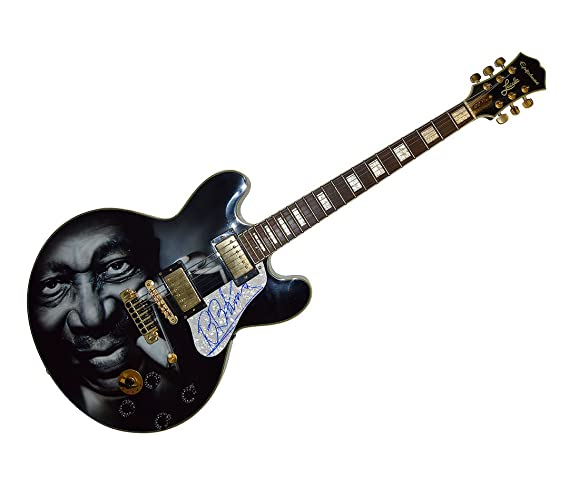 B B King Autograph Signed Gibson Epiphone Lucille Guitar Psa Aftal