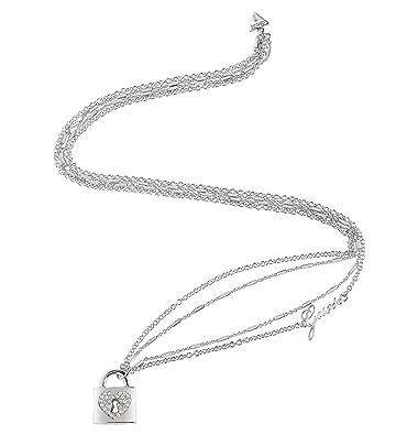 Damen Schmuck Guess Damen Halskette Heart Lock ubn85062