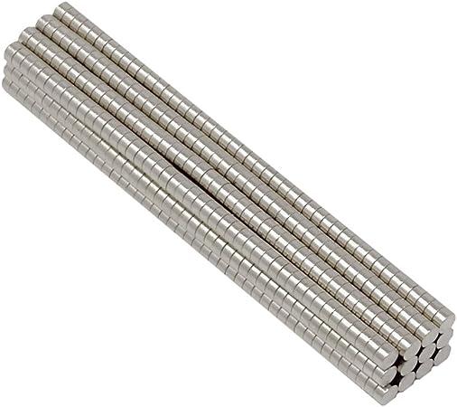 Neodym Magnet 10 x 1 mm Supermagnete hohe Haftkraft Scheibenmagnet N35-5 Stück