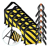 Neewer 6-Pack Heavy Duty Sandbag (Yellow/Black) for Photo Studio Light Stands Boom Arms with 6-Pack Muslin Backdrop Spring Clamps Clips (Empty Sandbag)
